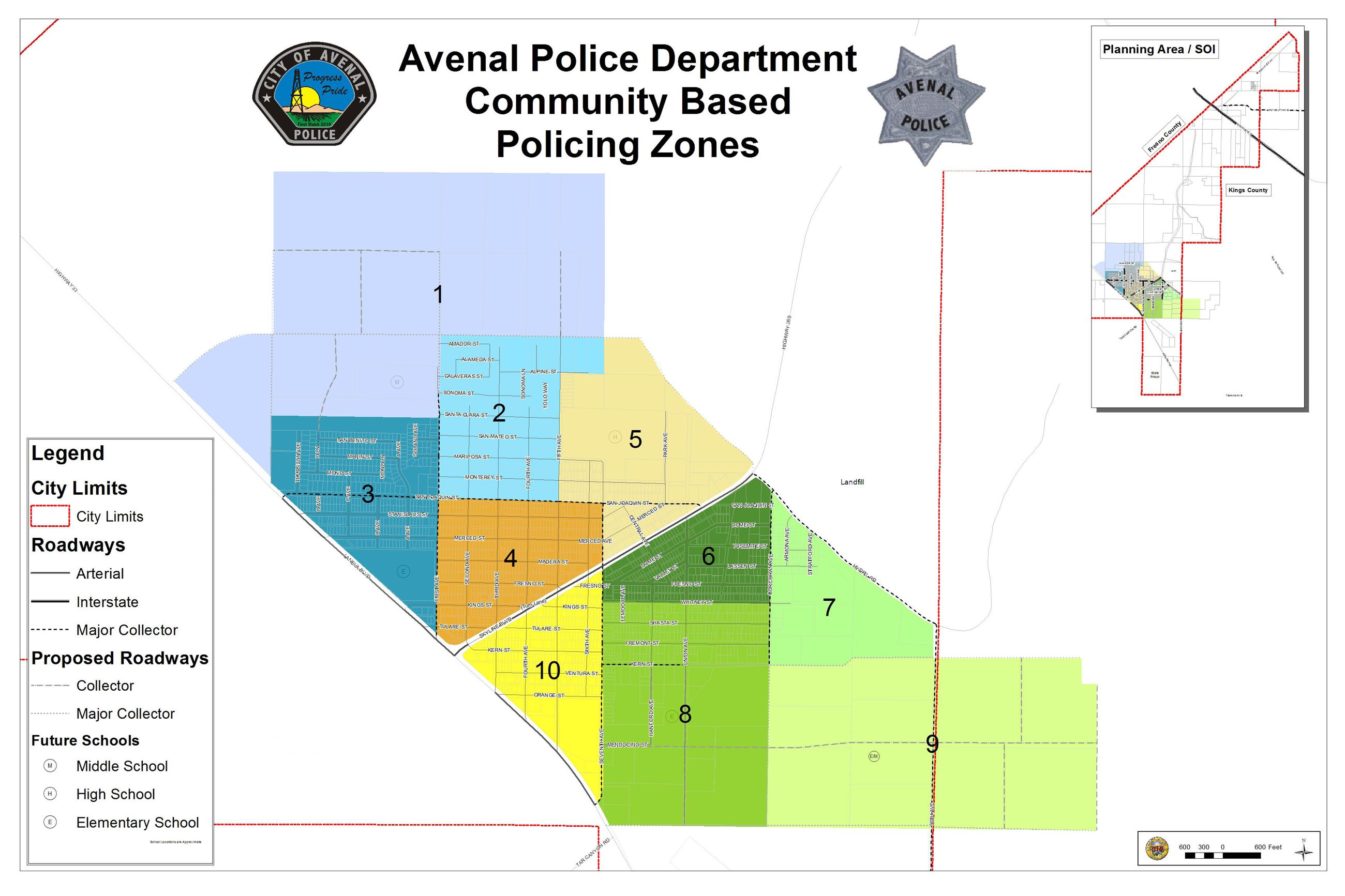 Community-Based Policing Zones Map