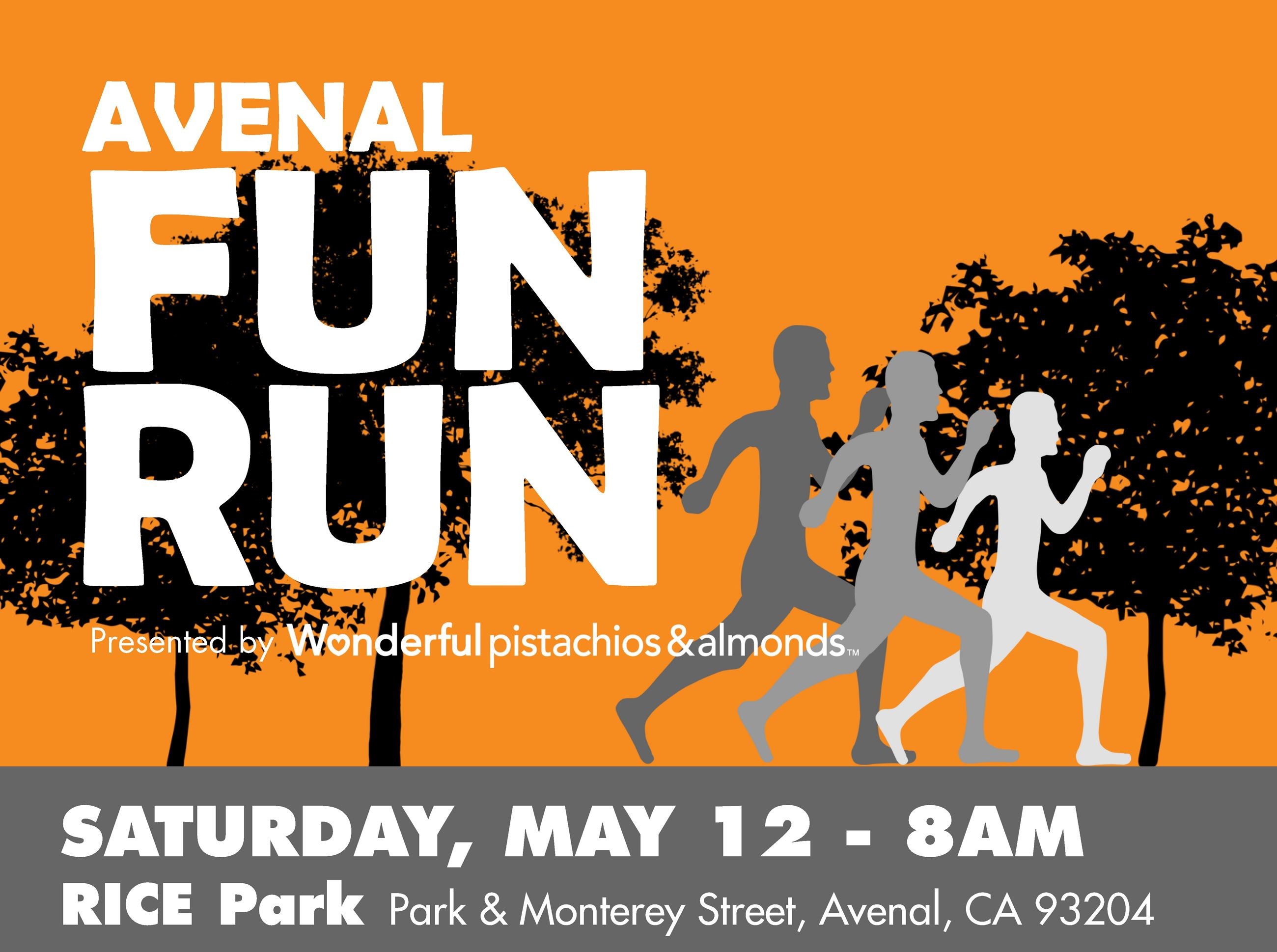 Avenal Fun Run Flyer top part