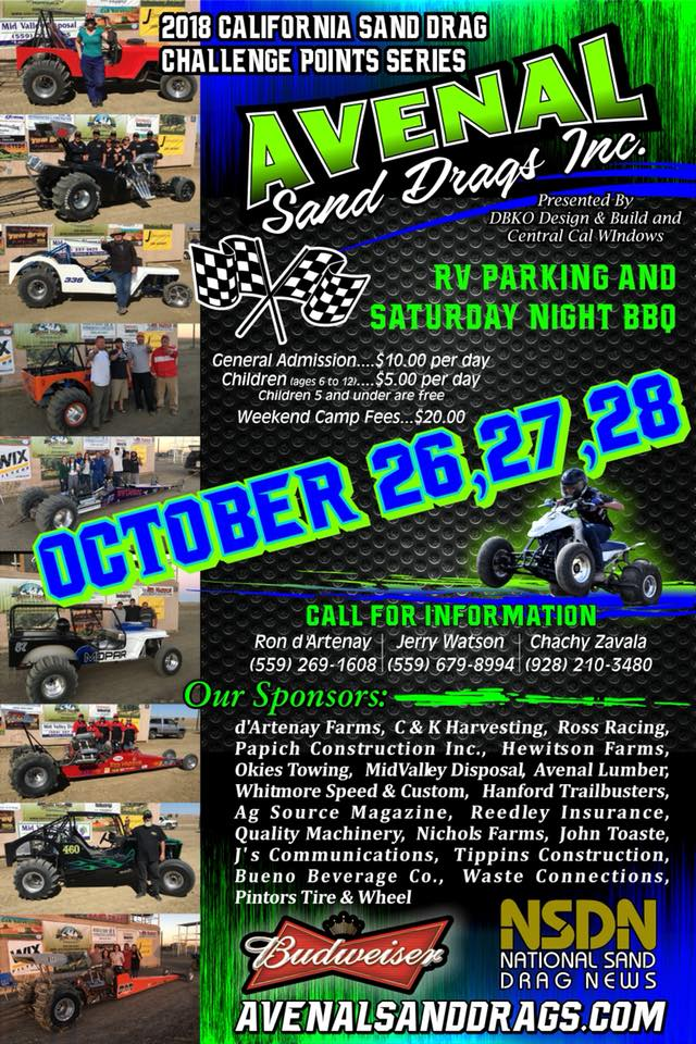 Sand Drags Fall 2018
