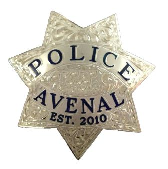 Avenal PD Badge